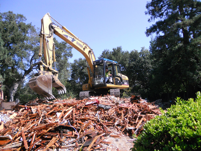 Before Clean Up of Full Home Demolition